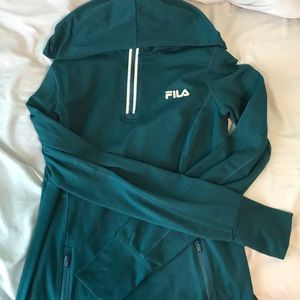 Fila quarter zip with hood